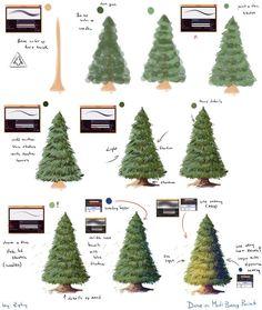 Pine Forest Brush Paint Tool Sai