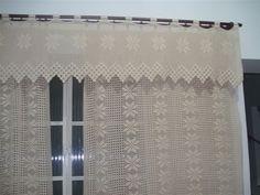 bandô para cortina de croche - Pesquisa Google