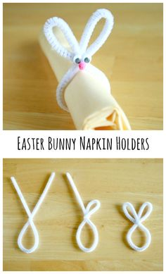 How to Make Pipe Cleaner Easter Bunny Napkin Holders