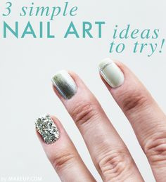 3 quick and easy nail art ideas to try / 3 super simple tutorials #nailart #howto