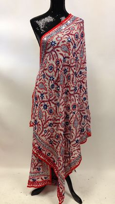 """- This beautiful """"fully handmade"""" phulkari with legendary ethnic Bagh/Jaal Embroidery dupatta has all the aura and fragrance from the legends and culture to give you that impeccable gorgeous persona a"""