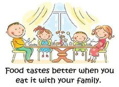 Food tastes better ....