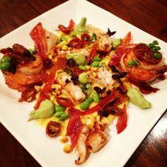Crisp Fried Prawn and Calamari with Tastes Of Summer Recipe - Best Home Chef Calamari Recipes, Squid Recipes, Healthy Summer Recipes, Vegetarian Recipes, Great Recipes, Favorite Recipes, Healthiest Seafood, Australian Food, Fabulous Foods