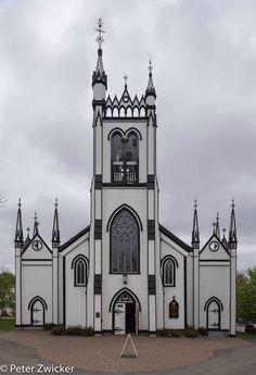 St. John's Anglican Church Lunenburg Nova Scotia, Religious Experience, Anglican Church, Church News, Old Churches, Cathedral Church, Church Building, Christmas Cakes, Mosques