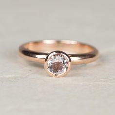 Rose Gold Ring - Alternative Engagement Ring - Morganite Ring - Rose Gold - Solitaire Ring -Engagement Ring - Unique Engagement Ring by AlisonMooreDesigns on Etsy https://www.etsy.com/uk/listing/266995294/rose-gold-ring-alternative-engagement