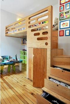Great use of small space Storage and closet in stairs