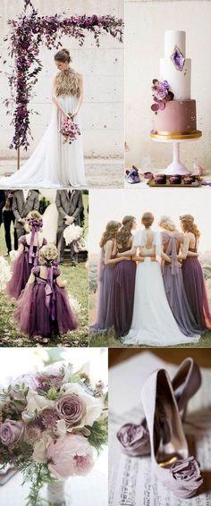 Modern mauve plum and lilac wedding color combo plum wedding colors, mauve wedd Lilac Wedding Colors, Mauve Wedding, Wedding Color Schemes, Lilac Color, Colour Schemes, Vintage Purple Wedding, Lavender Wedding Theme, Lavender Weddings, Burgundy Wedding