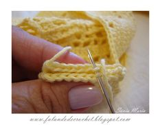 AMEND OR JOINING crochet PARTS, WITH NEEDLE EMBROIDERY NEEDLE and crochet