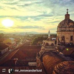 Follow @mr_mrswanderlust: #Sunset over #Granada #Nicaragua #ILoveGranada #AmoGranada #Travel