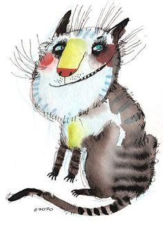 Просмотреть иллюстрацию Кот с желтым носом из сообщества русскоязычных художников автора Атрахович Настасья (ozozo) в стилях: Графика, нарисованная техниками: Акварель | Тушь.