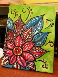 Pin by sally stevenson on my brand board ideas in 2019 мандалы, искусство, Doodle Art Drawing, Mandala Drawing, Mandala Painting, Painting & Drawing, Art Drawings, Diy Canvas Art, Painting Inspiration, Flower Art, Design Art