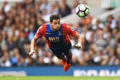 Joel Ward of Crystal Palace launches himself and heads the ball against… Joel Ward, Crystal Palace Fc, Soccer Ball, Premier League, Amazing Photography, Cool Photos, Football, Soccer, Futbol