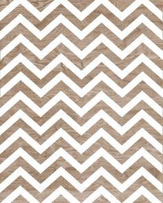 BOGO SALE - Light Brown Wood Grain Faux Bois White Chevron Art Print Home Decor -  8 x 10 - Chevron Pattern No. 7 on Etsy, $16.00
