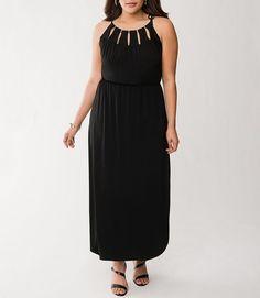 472bef85e313 Lane Bryant Black Hardware Maxi Dress Size 22 24 3X New