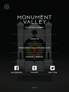 Monument Valley | About | UI, HUD, User Interface, Game Art, GUI, iOS, Apps, Mobile Games, Grahic Desgin, Puzzle Game, Brain Games, ustwo | www.girlvsgui.com