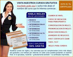 Cursos de Ingles Gratis Certificado OM Personal, Aprender Ingles Gratis con diploma por Internet, Curso Gratis de Ingles Online, Ingles Virt...