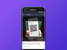 A try at QR code scanning interaction. This has been made with PrincipleForMac. I would love to know your feedback and Thanks for watching! Qr Code Scanner App, Qr Code App, App Ui Design, Mobile App Design, User Interface Design, Mobile App Ui, Ui Inspiration, Venom Art, Coding