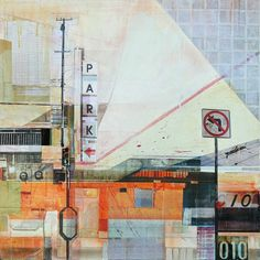 ARTFINDER: Finding My Way Back  by Jon  Measures - Mixed media painting with digital prints and acrylic paint on wood