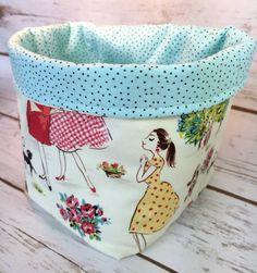Fabric Basket Fabric Bin by littlestitchstudio1 on Etsy