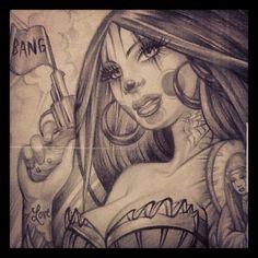 """""""Bang Bang"""" by Latisha Wood California USA http://www.lawoodscreations.com"""