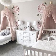 Bedroom Design Ideas – Create Your Own Private Sanctuary Kids Bedroom Designs, Cute Bedroom Ideas, Room Ideas Bedroom, Baby Room Decor, Bedroom Kids, Girls Bedroom Canopy, Kids Bedroom Ideas For Girls Toddler, Sister Bedroom, Bedroom Simple