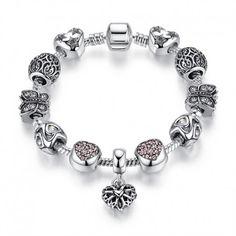 $5.99 Crystal Charm Bracelets for Women Original DIY Jewelry