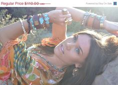 http://www.etsy.com/shop/luxdivine XMAS IN JULY Lux Recycled Leather Turquoise Gemstone Spike Stacking Cuff via Etsy
