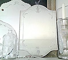 Attractive Etched Mirrors.....I Love These Vintage Mirrors