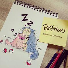 Petit croquis de chats inspiré par #pokemongo dont je suis plutôt fan ! J'avoue... Et bien sûr par mon #chat d'#amour... A la fois chanteur avec ses #miaou et dormeur avec ses siestes, Mrouflex et Mroudoudou me trottaient dans la tête depuis un bon moment... :-P #croquis #sketch #pokemon #pokemrou #catlady #cats  ♥ #attrapezlestous #attrapezlesmrou ! #rondoudou #ronflex #pokeball #cestlheuredelasieste Pokemon Go, Photo Chat, Illustrations, Moment, Pirates, Instagram Posts, Hat, Catch Em All, Cats