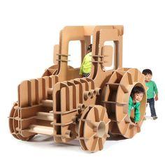 cardboard playground toys car