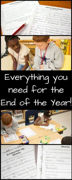 End of Year Bundle - No Prep Activities, Letter Writing, Reflections, and Fourth Grade, Third Grade, Reflection Questions, Powerpoint Lesson, 5th Grade Reading, Different Holidays, Last Day Of School, End Of Year, Letter Writing
