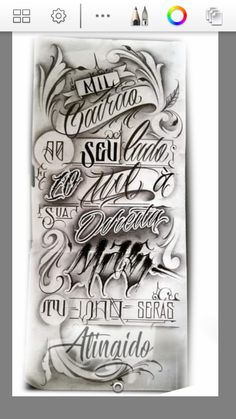 Chest Tattoo Sketches, Tattoo Drawings, Bear Tattoos, Tatoos, Arte Lowrider, Tattoo Lettering Styles, Letras Tattoo, Forearm Tattoo Design, Tattoo Shows