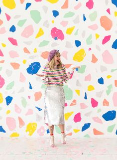 Terrazzo Photobooth Backdrop | Oh Happy Day! Moodboard | Green | Yellow | Pink | Royal Blue | Aqua | Teal | Torquise | Magenta | Fuschia | Electric Blue |Fashion | Colorful| Vibrant Colors | Photography | Illustration | Graphic Design | Home Decor | Styled