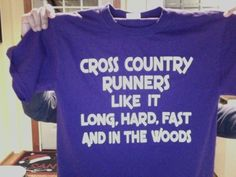 If only it said Ultra Runners instead of Cross Country Runners.