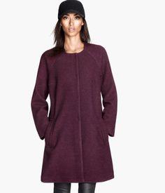 wool-blend coat 60.00