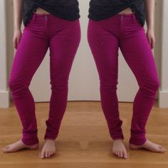 """HOST PICK 12/1/13 Fragile skinny jeans Stretchy skinny jeans in a rich dark magenta hue. 15.5"""" across waist laid flat, 7.5"""" rise, 31.5"""" inseam, 11"""" leg opening. Fragile Jeans Skinny"""