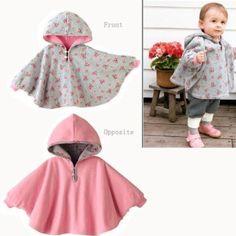 Fuloon Newborn Baby Toddler Girl Fleece Hoodie Cape Coat For Winter (pink): Baby