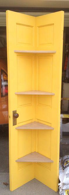 Door corner shelf I made and painted.