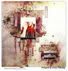 Challenge#141 - scrapki-wyzwaniowo: June 2017- See it in Pink - 1st reveal - Fiona Paltridge