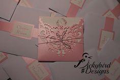 Pink Laser Cut Invitations