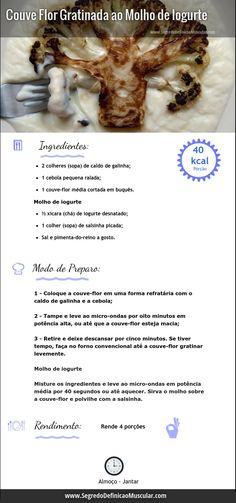 Couve Flor Gratinada ao Molho de Iogurte  ➡ http://www.segredodefinicaomuscular.com/receitas-saudaveis-couve-flor-gratinada-ao-molho-de-iogurte  #Receitas