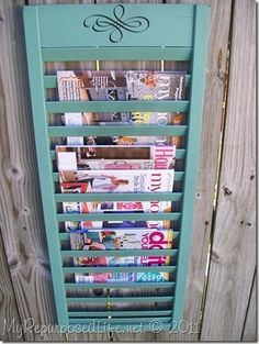 Shutters as Magazine Racks. Ok, this is brilliant! I'd need two or three for all my mags tho, lol!