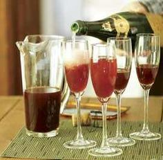 Sparkling Pomegranate Cocktail (Sparkling Wine or dry Champagne)