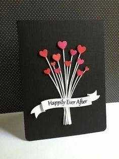 DIY Valentine Card 4 Result geschenke ideen 20 Ideas of DIY Valentine Cards You Can Make At Home - mybabydoo Diy Valentines Cards, Valentine Crafts, Valentine Day Gifts, Tarjetas Diy, Karten Diy, Wedding Anniversary Cards, Wedding Gifts, Diy Wedding Cards, Anniversary Ideas