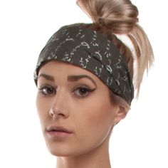 BESTSELLER! Silly yogi embroidery cotton headband $4.49 This may be my look while I am growing it out