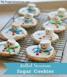 Melted snow man cookies