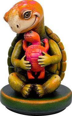 Sergio Bustamante Drawing Machine, Toys Land, Turtle Figurines, Tortoise Turtle, Turtle Pattern, Turtle Love, Polymer Clay Animals, Mexican Artists, Modern Sculpture