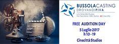 Free Audition Day del 5 Luglio a Cinecittà Studios