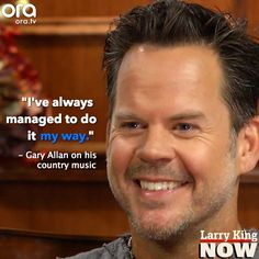 Gary Allan has spent a lifetime playing country music and tells it like it is: why country isn't what it used to be, and how he feels about Taylor Swift. Plus, will we see a gay country star? Gary sounds off. Country Music Artists, Country Singers, Gary Allan, Hey Good Lookin, Music Tv, My Favorite Music, My Way, Larry, Dj