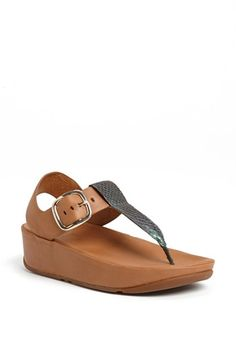 FitFlop 'Tia™' Leather Sandal available at #Nordstrom